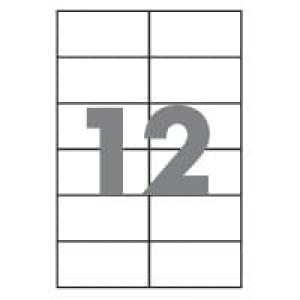 Самоклейка папір формату А4 розділений на 12 етикеток розміром 70х67,7мм, 100шт