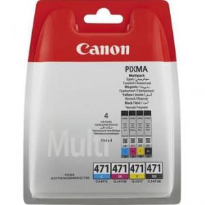картриджи canon cli-471 b, c, m, y комплект (0401c004) multipack CANON 0401C004