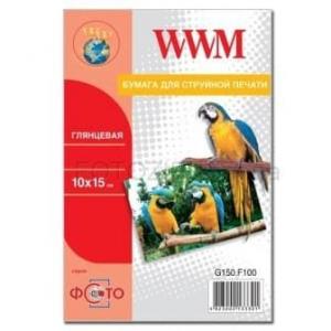 фотобумага wwm, глянцевая 180g, m2, 100х150 мм, 100л (g180.f100) WWM G180.F100