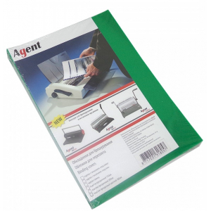 Обложки прозрачные зеленые А4, 180 мкм, 100шт Agent (1510476)
