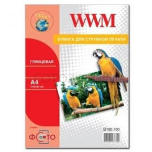фотобумага wwm, глянцевая 150g, m2, a4, 50л (g150.50) WWM G150.50