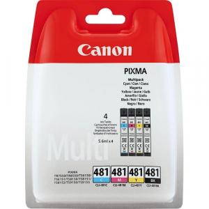 Оригинальные картриджи Canon CLI-481, B/C/M/Y (2101C005) Multipack
