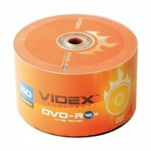 диски videx dvd-r 4.7gb 16x bulk 50шт Videx 21023