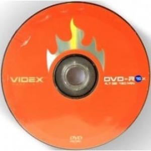 диски videx dvd-r 4.7gb 16x bulk 10шт Videx 21024