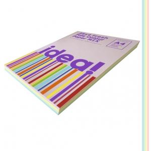 Набір кольорового паперу Pale Colour mix FRESH 25х4, А4 80 г/м 100л idea (22224)