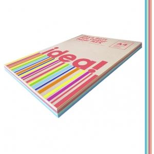Набір кольорового паперу Pale Colour mix SOFT 25х4, А4 80 г/м 100л idea (22227)
