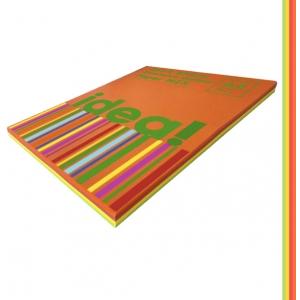 Набір кольорового паперу Intensive Colour mix SHINY 25х4, А4 80 г/м 100л idea! (22228)
