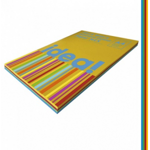 Набор цветной бумаги Intensive Colour mix GLORY 25х4, А4 80 г/м 100л idea! (22229)