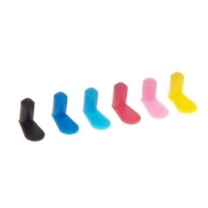 набор цветных заглушек для комплектов перезаправляемых картриджей (6 шт) (p6.rc) WWM P6.RC