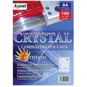 Плівка для ламінування глянцева А4, 100 мкм, 100 шт Cristal Antistatic (3140021)