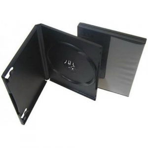 бокс для 1-dvd диска 9мм черный глянец DVD BOX dvd1box9