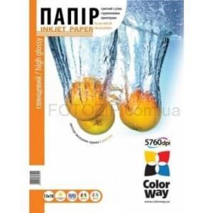 фотобумага colorway глянц. 200г/м, 13x18 pg200-100 карт.уп. ColorWay PG2001005R
