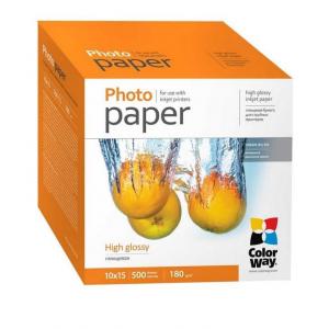 фотобумага colorway глянцевая 180г/м, 10х15 pg180-500 ColorWay PG1805004R