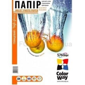 фотобумага colorway глянцевая 230г/м, a4 pg230-50  карт.упаковка ColorWay PG230050A4