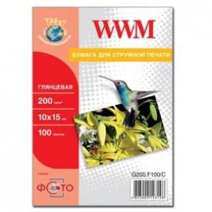 фотобумага wwm, глянцевая 200g, m2, а4, 100л (g200.100) WWM G200.100