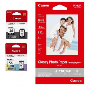 Комплект струйных картриджей Canon для PG-46, CL-56 c фотобумагой 50л (9059B003) Multipack
