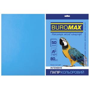 Кольоровий папір INTENSIVE синій 50 аркушів, А4, 80 г/м² (BM.2721350-30)