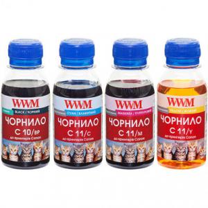 Комплект чорнил wwm Canon PG510BP, CL511, C10/11SET, (4*100 г)