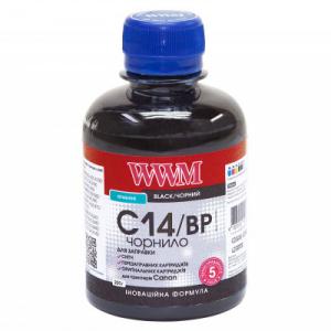 Чернила WWM для Canon 200мл Black Пигментные (C14/BP)