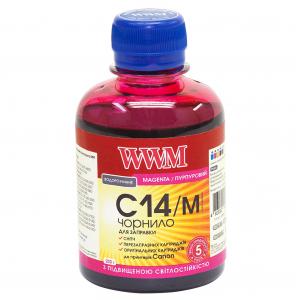 Чернила WWM для Canon 200мл Magenta светостойкие (C14/M)