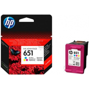 картридж hp 651 для deskjet 5575, officejet 202, color (c2p11ae) HP C2P11AE
