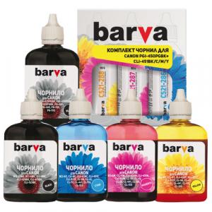 Чернила BARVA для картриджей Canon PGI-450PGBK, CLI-451 комплект 5х90г (CPGI450-5-090-MP)