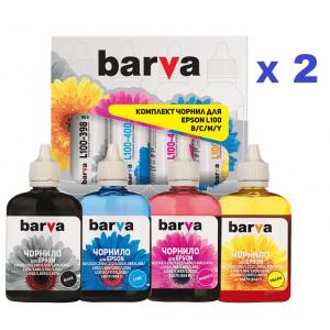 Чернила Barva для Epson L аналог 664 (комплект 4 шт х 180мл)
