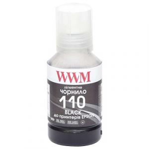 Чернил для Epson M1100, M1120, M1140, M2140, M3140, M3170, WWM 140г Black (E110BP)