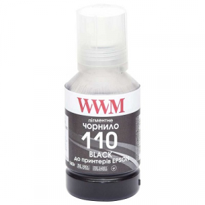 Чорнила для Epson M1100, M1120, M1140, M2140, M3140, M3170, WWM 140г Black (E110BP)