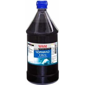 Пигментные чернила WWM E26 для Epson серии XP, L, 1000г Black (E26/PB-4)