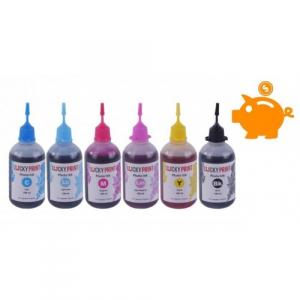 Чорнила Lucky Print для Epson L800, L805, L810, L850, комплект 100 мл х 6 шт