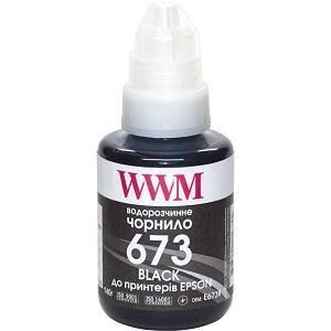 Чорнила WWM 673 для Epson L800, L805, L810, L850, L1800, 140г Black (E673B)