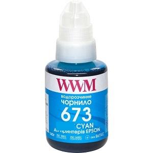Чернила WWM 673 для Epson L800, L805, L810, L850, L1800, 140г Cyan (E673C)