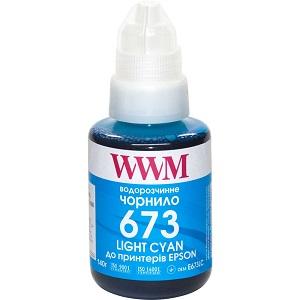 Чорнила WWM 673 для Epson L800, L805, L810, L850, L1800, 140г Light Cyan (E673LC)