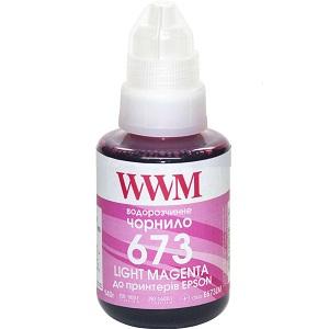Чернила WWM 673 для Epson L800, L805, L810, L850, L1800, 140г Light Magenta (E673LM)