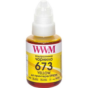 Чорнила WWM 673 для Epson L800, L805, L810, L850, L1800, 140г Yellow (E673Y)