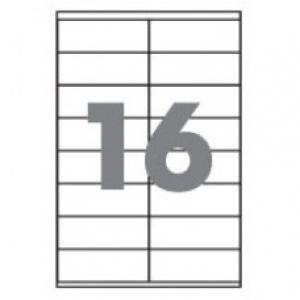 Самоклеющаяся бумага А4 разделенная на 16 этикетки, 105х37,1мм, 100 листов (BM.2834)