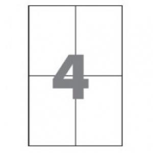 Самоклеющаяся бумага А4 разделенная на 4 этикетки, 105х148,5 мм, 100 листов (BM.2816)