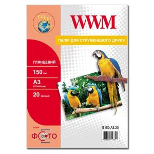 фотобумага wwm, глянцевая 150 g, a3, 20л (g150.a3.20) WWM G150.A3.20