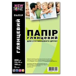 фотобумага newtone глянцевая 200г, 10x15, 100 листов (g200.f100n) NewTone G200.F100N