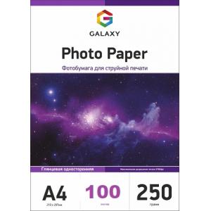 глянцевая фотобумага а4, 250г, 100 листов, galaxy Galaxy GAL-A4HG250-50-2p