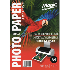 фотобумага мagic a4 глянцевая 115г/м, 100 листов Magic GL115A4/100