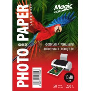 Фотопапір глянцевий 13x18, Magic 230g, 50 аркушів