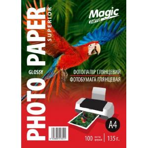 фотобумага мagic a4 глянцевая 135г/м, superior 100 листов Magic GL135A4/100