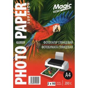 Фотопапір Мagic A4 глянцевий 200г/м, 100 аркушів