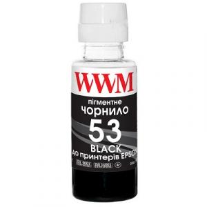 Чернила WWM GT53 для HP Black Pigment Пигментные (H53BP)