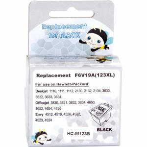 картридж струйный совместимый для hp deskjet f 2130, №123xl black (hc-m123b) MicroJet HC-M123B