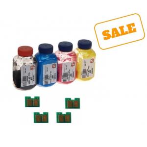 Набор тонера АНК с чипами для HP CLJ CP1215, CP1515N, CP1525N