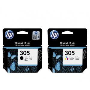 Картриджи струйные HP 305 Black, Color оригинальные