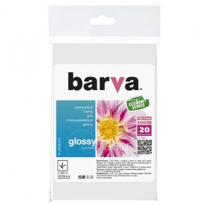 Глянцевая фотобумага 10x15, 200г/м2, 20 л, BARVA Everyday (IP-CE200-215)